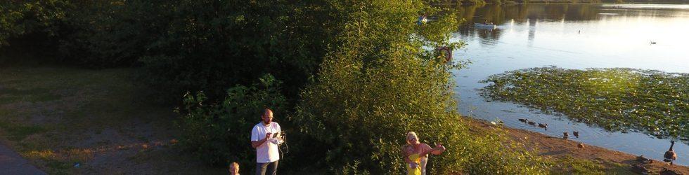 Flying over Deer Lake. Visual Meditation in 4K.